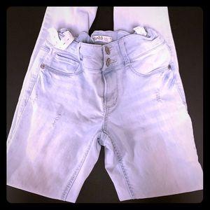 MUDD girls mid-rise Jean leggings size 12 skinny
